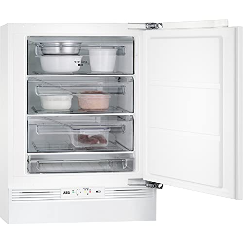 AEG ABB682F1AF Congelador Vertical Integrable, Bajo Encimera, 82 cm, Estático, FrostMatic, Panel de Control Electrónico, 4 cajones, Door on Door, Clase F