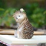 Inveroo Cute Artificial Mini Hedgehog Miniaturas Hada Jardín Gnomos Musgo Terrarium Resina Artesanías Casa Decoraciones Regalo para Los Niños