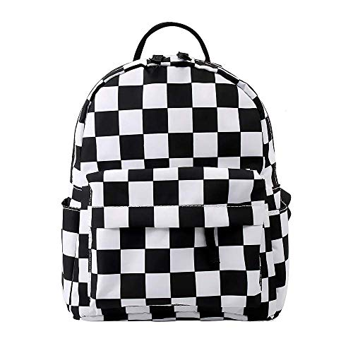 Mini Black and White Checkered Backpack | Waterproof Mini Bags Backpacks Rucksack for Children | Backpack for Girls, Backpack for Boys, Toddler Backpack, Kids Backpack, UK Company*