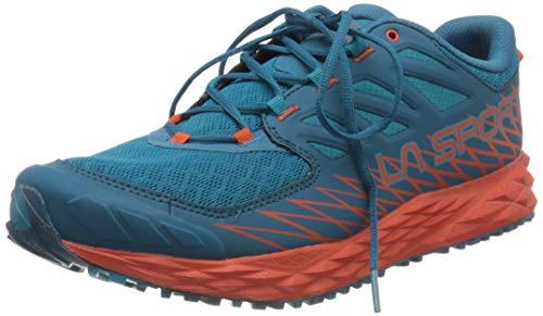La Sportiva Lycan, Zapatillas de Trail Running para Hombre, Multicolor (Tropic Blue/Tangerine 000), 41 EU
