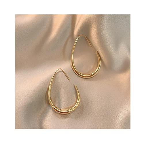 LICHUAN Pendientes de aro ligeros de moda, pendientes de aro con forma de lágrima, joyería de cumpleaños, día de San Valentín, para mujeres y adolescentes