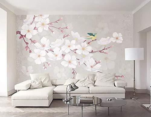 """3D Perzik Vogel WG0464 Behang Afdrukken Decal Deco Binnen Muur Muurschildering Zelfklevend Behang AJ WALLPAPER NL Muzi (Geweven papier (lijm nodig), 【205""""x114""""】520x290cm(WxH))"""