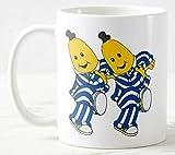 N\A Bananas In Pyjamas Theme Taza de café Tazas de cerámica Negro/Blanco Divertido Bar de Oficina Tazas para el hogar