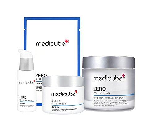 Medicube Zero Line Full SET - MEDICUBE ZERO PORE PAD, MEDICUBE ZERO PORE SERUM, MEDICUBE ZERO PORE CREAM, MEDICUBE ZERO KERATIN PAD