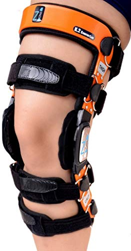 """Z1 K2 Knee Brace –Best Knee Brace for ACL/Ligament Injuries/Sports Injuries, Arthritis (OA) & Preventive Protection & Relief from Knee Joint Pain/Degeneration- Men & Women S16(T=22-23.5""""/C=14-15.5"""")"""