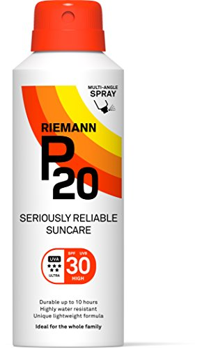 Riemann P20 Sunscreen SPF30 Multi-angle Spray 150ml | Long Lasting UVA & UVB Protection for up to 10 hours | Highly Water Resistant