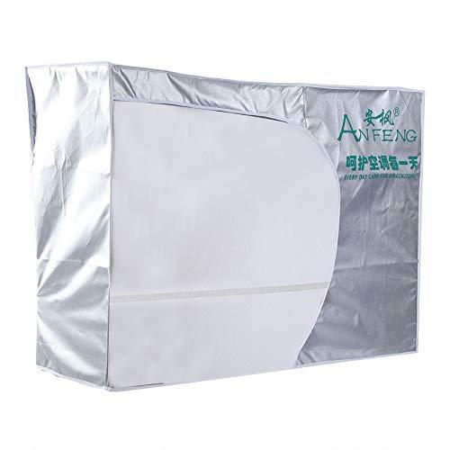 Tnfeeon Klimaanlage Abdeckung, Outdoor Anti-Staub-Anti-Schnee Wasserdicht Sunproof Fenster Klimaanlage Schützt mit Air Vent und Bindeseil(2p)