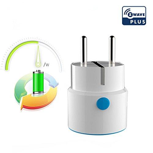 NEO COOLCAM NAS-WR01ZE Netzsteckdose Smart Adapter Stecker Kabellose Fernbedienung Kompatibel mit Z-wave 300 Series und 500 Series Home Automation für Smart Home