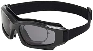 Edge Eyewear HS116 Speke Low Profile with Rx Insert Goggle with Smoke Lens