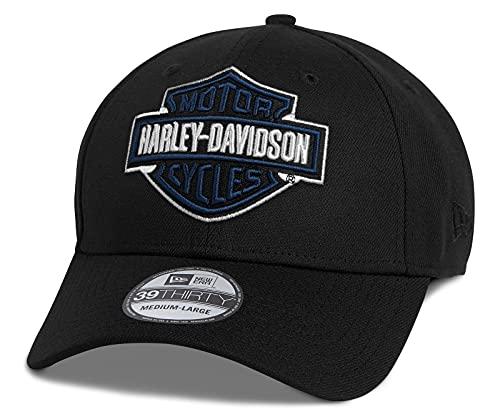 HARLEY-DAVIDSON Bar & Shield Logo 39Thirty Baseball-Cap Cappy Mütze Schwarz, M