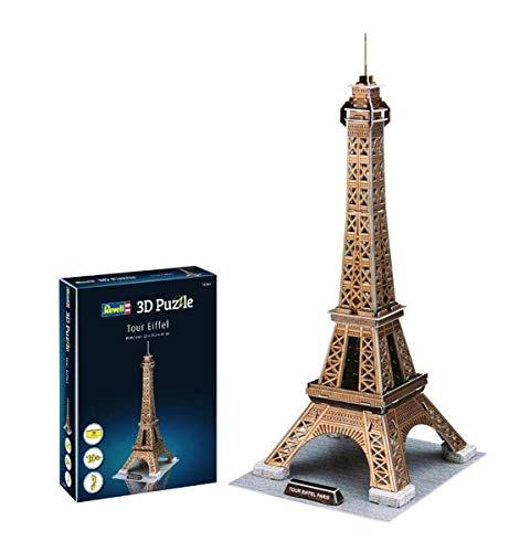 Revell 3D Puzzle 00200 Eifelturm, das Wahrzeichen von Paris Die Welt in 3D entdecken, Bastelspass für Jung und Alt, farbig