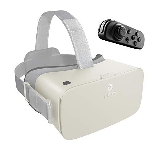 DESTEK VR Headset 3D Brille VR,110° FOV,virtuelle realität für Handy Brille mit drahtloser Bluetooth-Fernbedienung für iPhone 12/11/X/8/7, Samsung Huawei Xiaomi