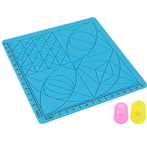 3D Printing Pen Silicone Drawing Pad Template Design Mat with Heat Proof Finger Caps for 3D Printer Parts Accessories