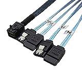 AHMI Mini SAS HD Cables SAS 36Pin SFF - 8643 a 7Pin 4SATA 1.6FT / 3.3FT Cable de transmisión de datos (01)