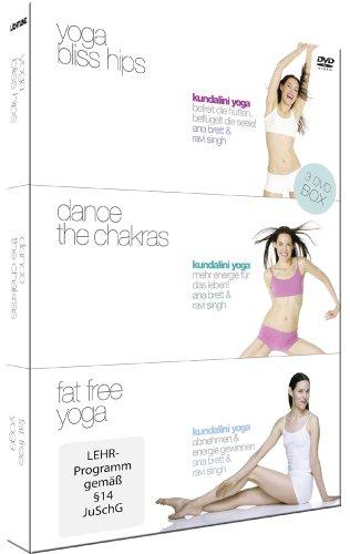 Kundalini Yoga Box - 3 DVDs (Yoga Bliss Hips, Dance the Chakras, Fat Free Yoga) - [DVD]