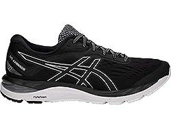 ASICS Men's Gel-Cumulus 20 Running Shoes, 9.5M, Black/White