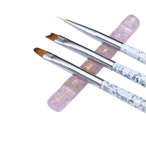 AYRSJCL Acrylique Transparent Cinq Grille Brosse à Ongles coloré Rack, Support Porte-Stylo Nail Spa Nail Art Outil 1Pc
