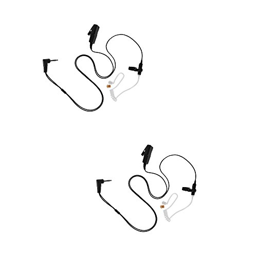 2 Pack Maxtop ASK4032-H2 2-Wire Acoustic Ear Tube Surveillance Kit for Hytera HYT TC-320 PD362 Cobra PR4200 PR4750