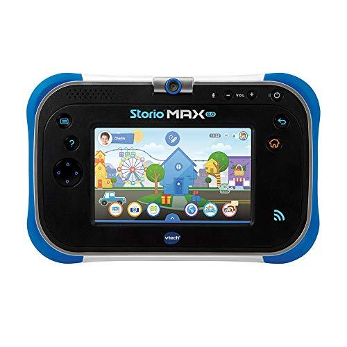 VTech - Storio Max 2. bleue - Tablette pour Enfant 3 ans à 11 ans - Ecran Tactile 5 pouces - Version FR