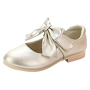 YWLINK Zapatos NiñAs,Arquean Los PequeñOs Zapatos De Princesa Sandalias Fiesta En La Playa Zapatos De Baile Antideslizante Zapatillas CóModo Ocio Lindo Regalo De CumpleañOs(Dorado,26EU)