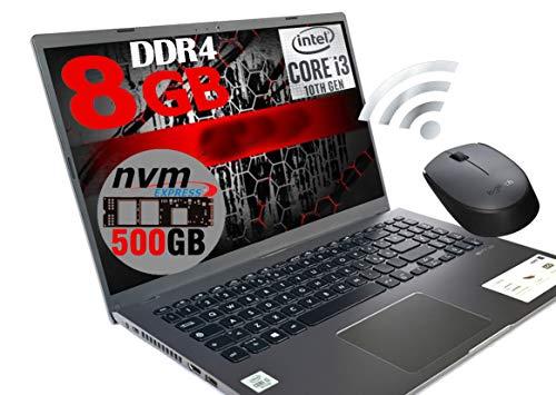 Notebook GRAY Portatile Pc Display FHD 15.6' Cpu Intel i3-1005G1 3,4ghz /Ram 8Gb DDR4 /SSD NVMe 500GB /HD Graphics UHD 620 /Hdmi Wifi Bluetooth /Windows 10 /open office + Mouse WiFi