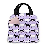 Basic Beaucerons And Sheep Lavender Insulated Lunch Bag for Women/Men - Reusable Lunch Box