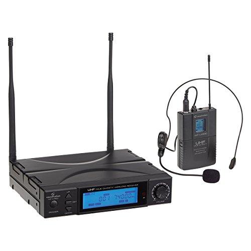 Soundsation wf-u1300p–Micrófono inalámbrico UHF con Bodypack y arco