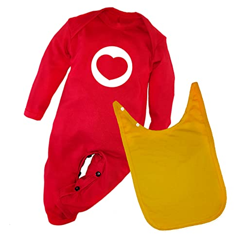 EDITHLICEA Disfraces para Bebé   Mameluco Plim Plim   Incluye Capa Amarilla   Algodón (12m, 12_Months)