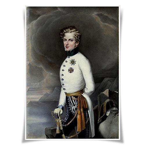 Póster de retratos de los reyes de Francia en tela, tamaño A3, decoración del hogar (#45 Napoleón II el águila)