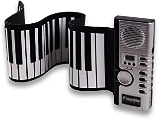 Electric Piano Stereo Keyboard Piano Hand Rolled Piano 61 Key Foldable Piano Beginner's Practice Piano Popular Gift (Color...