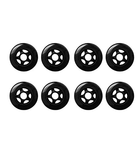 MY1MEY 8 Stück Inline Skate Wheels, Single Wheel Sneaker Schuhe Inline Skate Ersatzräder 90Mm / 85A Inline Indoor Hockey Ersatzrolle(Black)