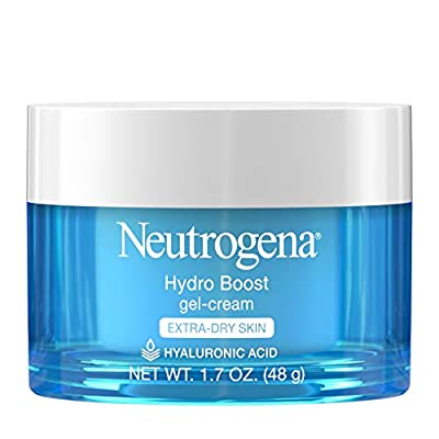 Neutrogena Hydro Boost Hydrating Hyaluronic Acid Gel-Cream Face Moisturizer to Hydrate and Smooth Extra-Dry Skin, Oil-Free, Fragrance-Free, Non-Comedogenic and Dye-Free, 1.7 oz