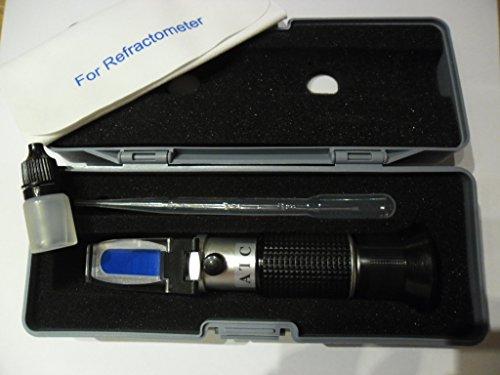 Refraktometer für KFZ Frostschutz prüfer Batteriesäure Scheibenwasser 3001 mit KALIBRIERFLÜSSIGKEIT
