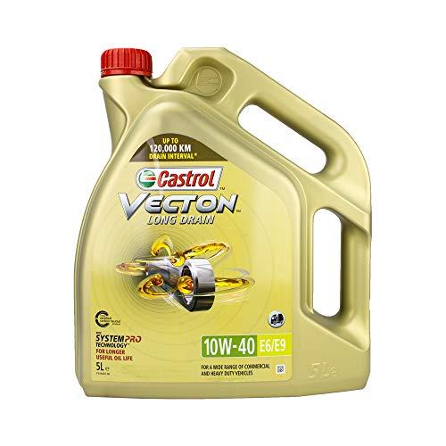 Castrol Aceite de Motor Motor Motor Motor Aceite Motor Motor Motor Aceite diésel Vecton 10W-40 Long Drain E6/E9 5L