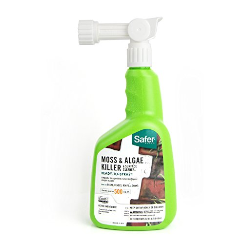 Safer Brand 5324-6 Moss and Algae Killer and Surface Cleaner, 32 oz. Hose Sprayer