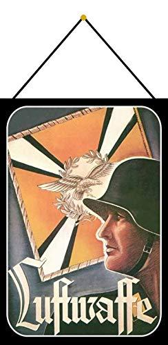 FS Luftwaffe Bundeswehr Wehrmacht Blechschild Schild gewölbt Metal Sign 20 x 30 cm mit Kordel
