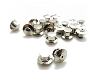 50 Premium Metal Locking Flathead Lapel Pin Back Clutch Clasp Fastener Spring Loaded No Tool Required