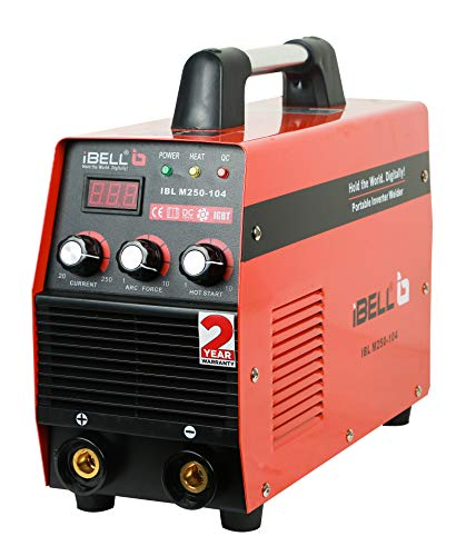 iBELL Heavy Duty Inverter ARC Welding Machine (IGBT) 250A with Hot Start, Anti-Stick Functions, Arc Force Control - 2 Year Warranty