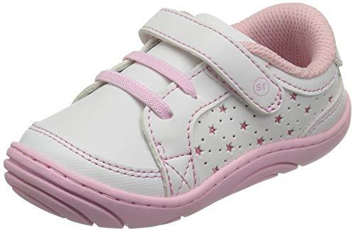 Stride Rite Girls Aubrey Baby Casual Sneaker First Walker Shoe, White, 5 M US Toddler