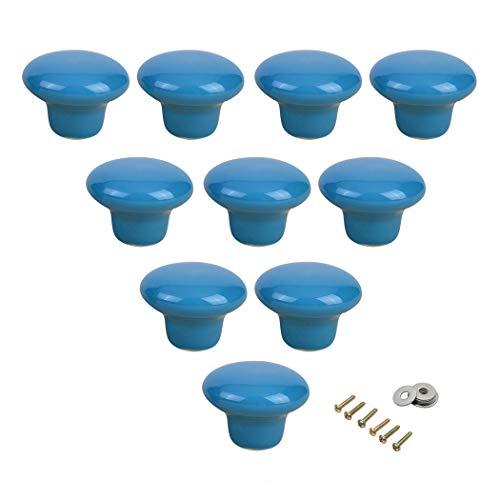 Tiradores redondos de cerámica para armarios y cajones, para habitación de niños, dormitorio, armario, 10 unidades