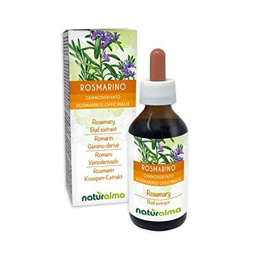 Rosmarino (Rosmarinus officinalis) Gemmoderivato analcoolico da gemme fresche NATURALMA | Estratto liquido gocce 100 ml | Integratore alimentare | Vegano