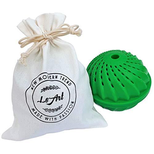 [VORTEILSKOMBI] LeArt Öko Waschball & Beutel | Bio Waschen ohne Waschmittel | Waschkugel für Waschmaschine | Ideales Produkt o. Geschenk für Allergiker & Kinder & Babys | Umweltfreundlich & Nachhaltig