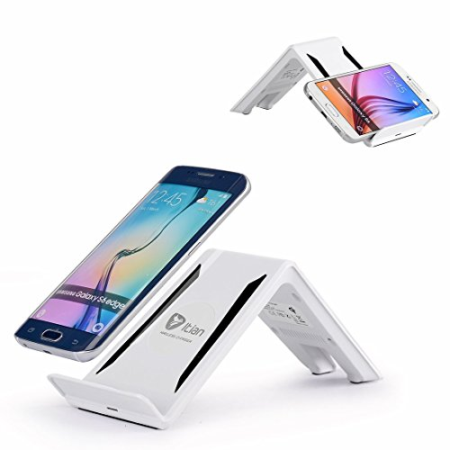 Wireless Charger,Itian 3 Coils Wireless Charging Stand A6B for Samsung Galaxy S8 S8+ S7 S7 Edge S6 S6 Edge Note5 S6 Edge +(Not Include Power Adapter)-White