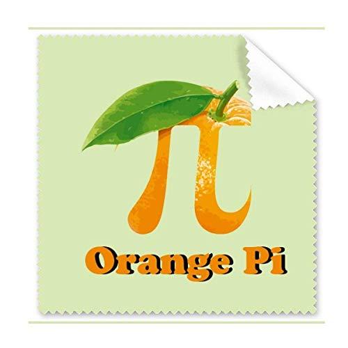 Reinigungstuch, mathematisch, Pi, orange, für Handy, Display, Brillen, Reiniger, 5 Stück