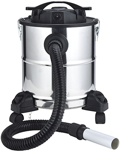 El Fuego® Aschesauger 1200 W, 20 Liter AY696 (1200 W, Behältervolumen 20 Liter, Aluminium Saugdüse, Grobfilter aus Metall