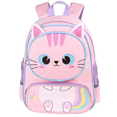 Mochilas para Niños - Niños Niñas Bolsa para la Escuela Dibujos Animados Animales Mochila Escuela Primaria Kindergarten Mochilas para 5-12 Años