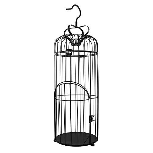 PrimoLiving P-888 - Jaula para pájaros (Metal, 75 cm), Color Negro