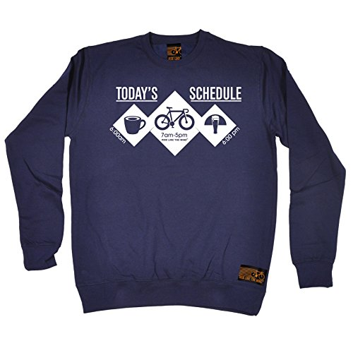 Cycling Sweatshirt - Todays Shedule Bike Cyclist Push jumper top bicycle cycle funny accessories Birthday Gift Christmas Novelty Fashion sports Clothing sweatshirts sayings for girls cool vintage