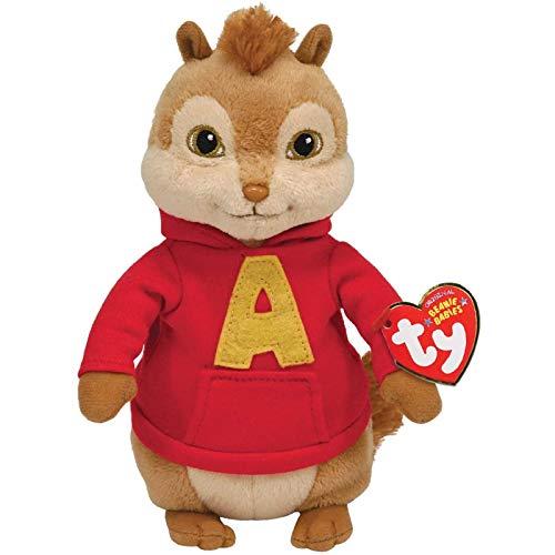 SKYLULU Regalo Bambola Peluche Chipmunk Alvin da 15 cm, Regalo di Festa per Uomini e Donne