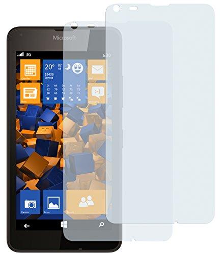 mumbi Schutzfolie kompatibel mit Microsoft Lumia 640 Folie klar, Bildschirmschutzfolie (2X)